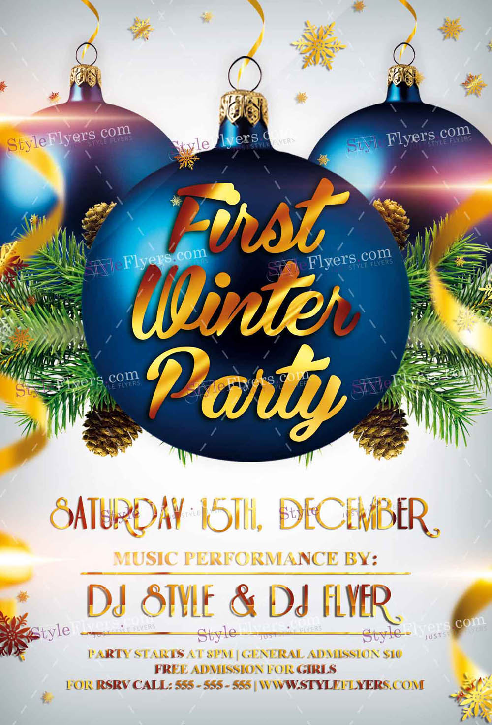 First Winter Party PSD Flyer