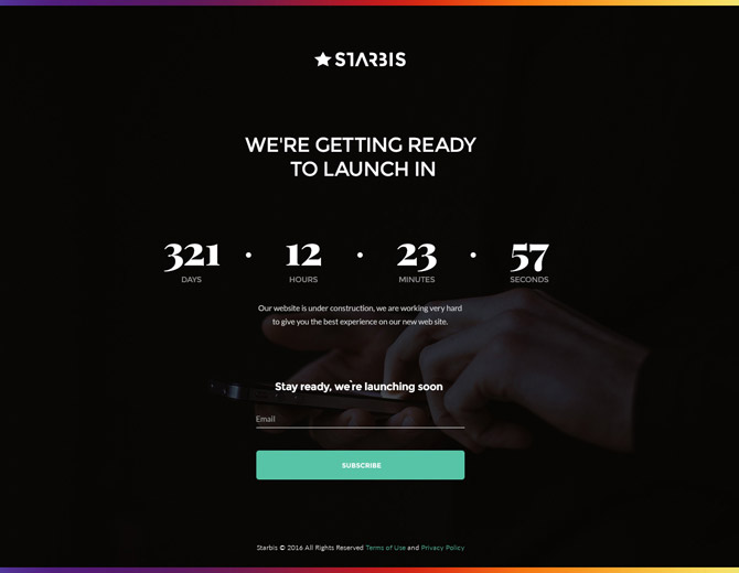 Starbis Coming Soon Page