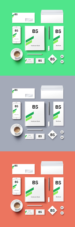 Branding Stationery Mockup PSD
