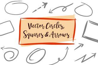 Free Hand-drawn Vector Circles, Squares And Arrows