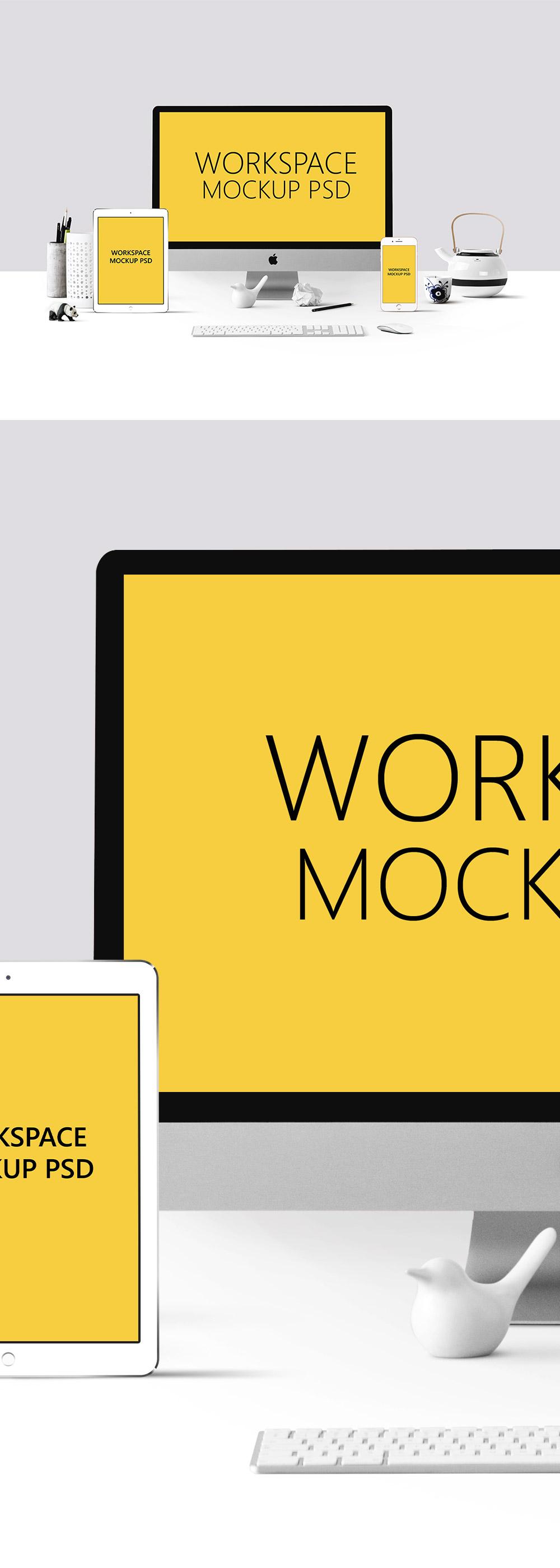 Free Workspace Mockup PSD