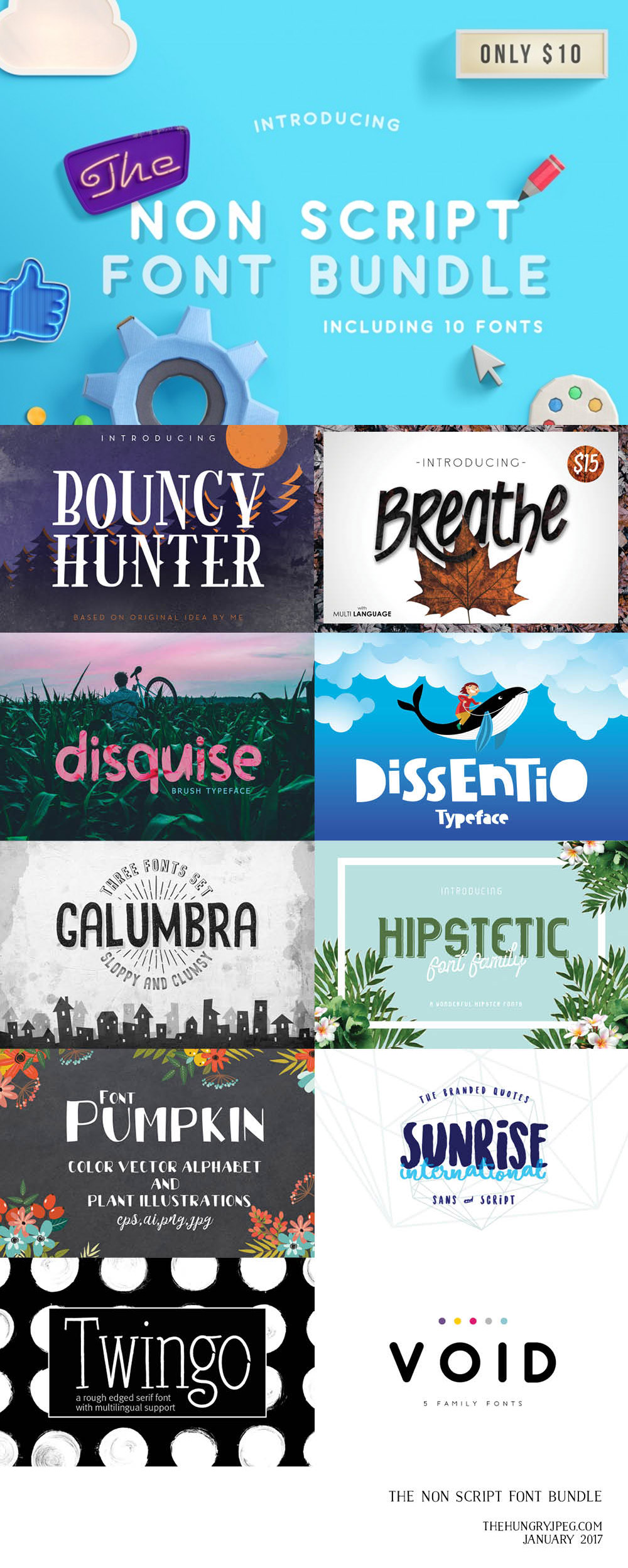 The Non-Script Fonts Bundle