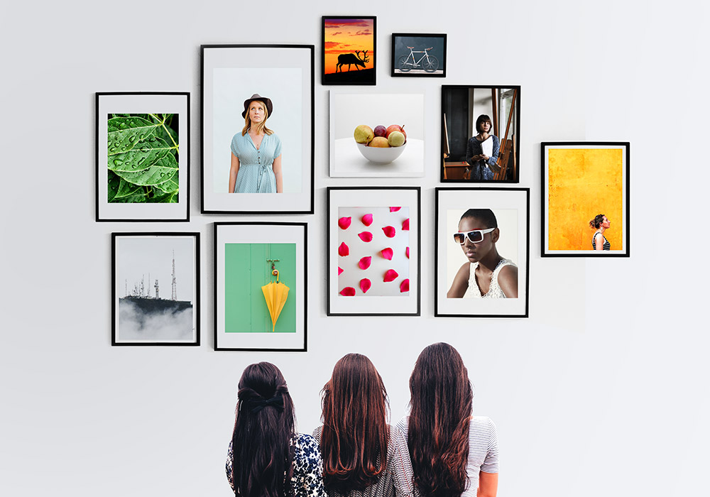 wall photo frames gallery psd