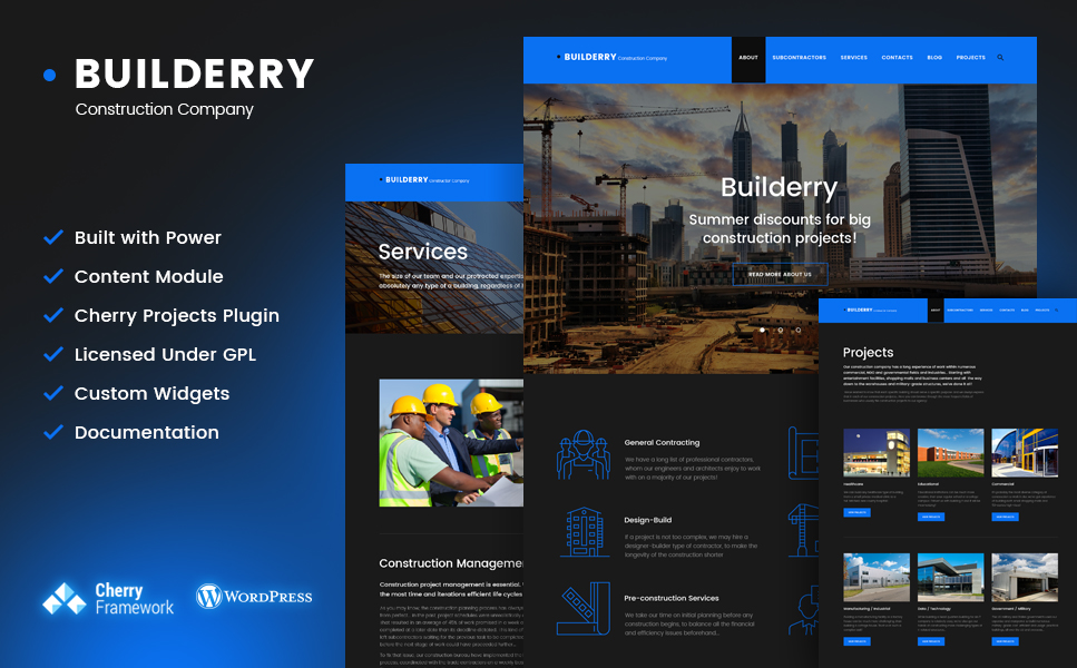 Builderry - Construction Company WordPress Theme