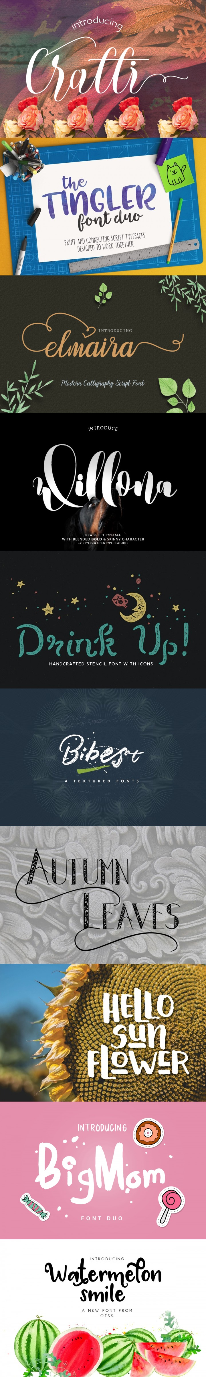 March Free Fonts Bundle