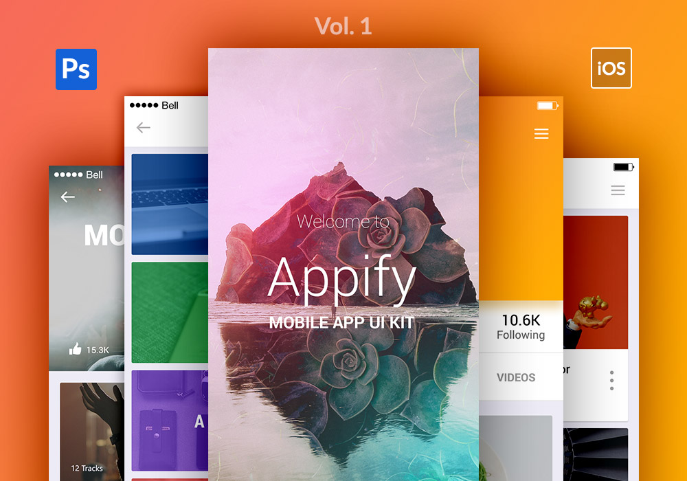 Appify: Free Mobile App UI Kit Vol.1