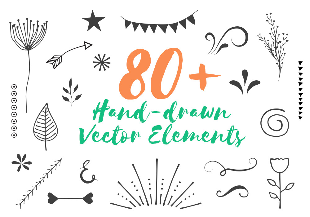 80+ Free Hand-Drawn Vector Elements