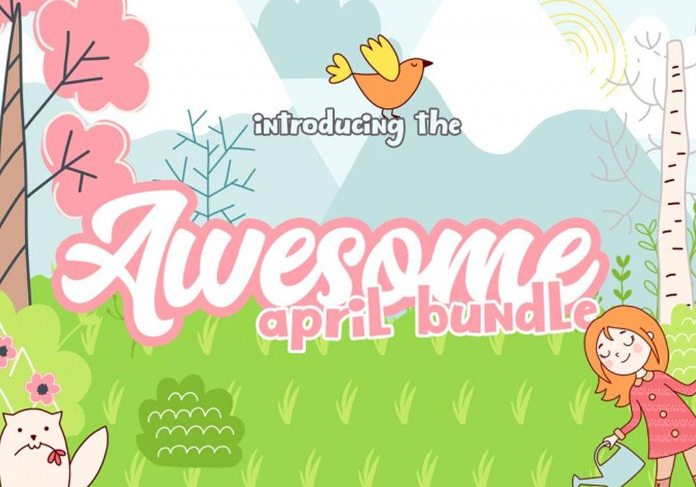 The April Fonts & Design Bundle