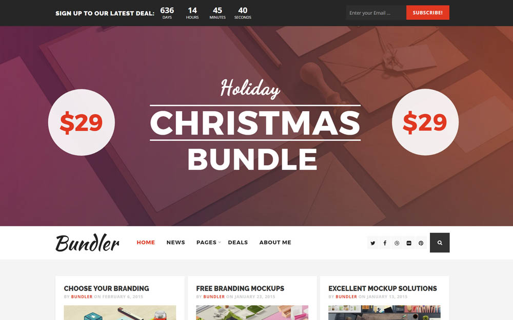 Bundler WordPress Deals Theme