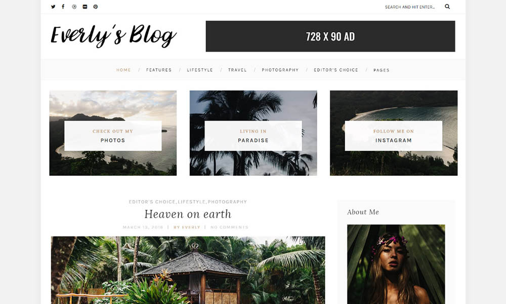 Everly Free WordPress Theme