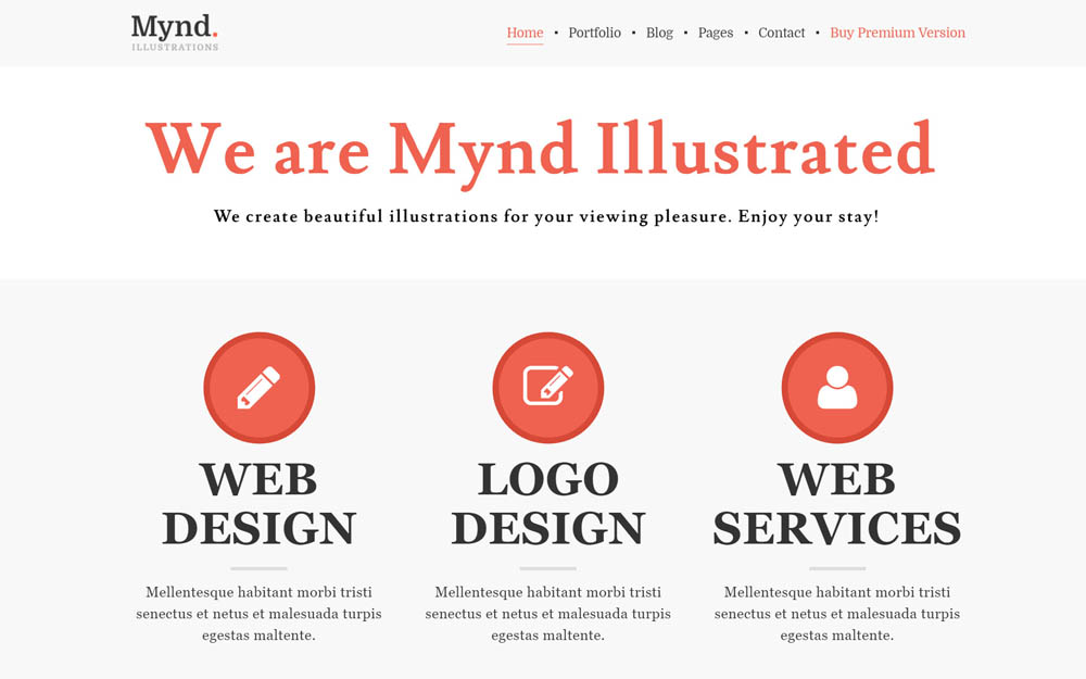 Mynd WordPress Theme