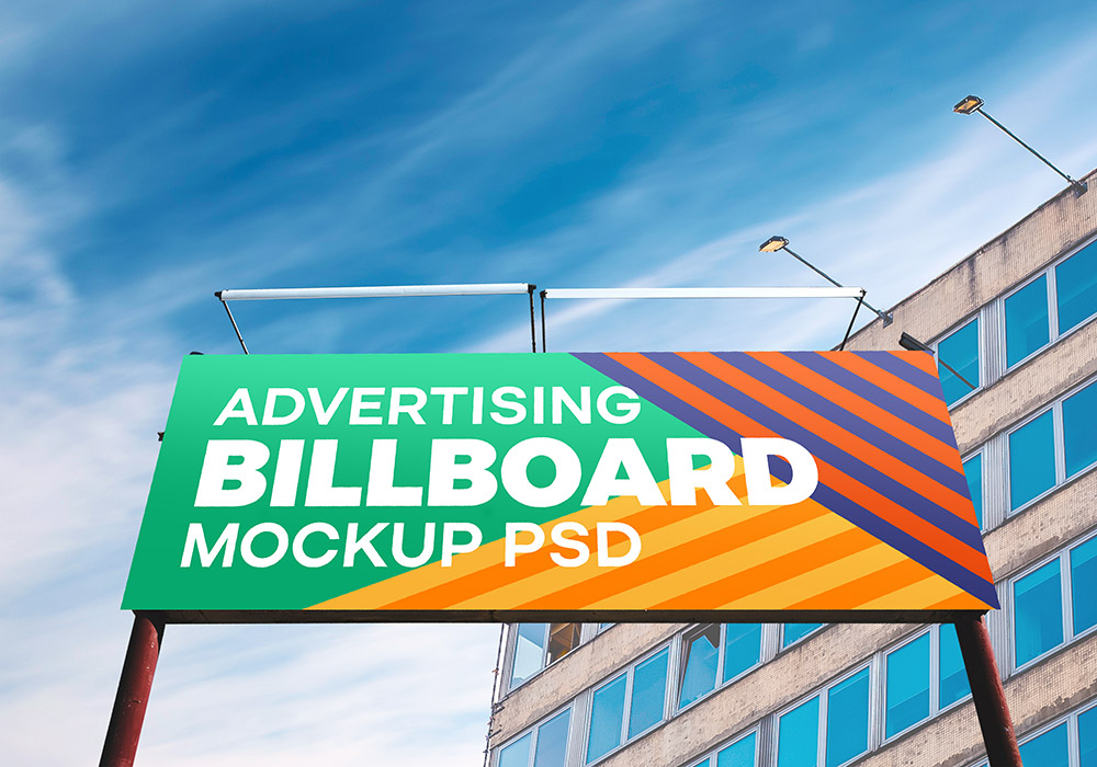 Outdoor Advertising Billboard Psd Mockup Graphicsfuel