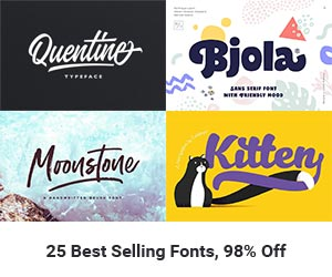 Buy Creative Fonts Bundle by Pixelo