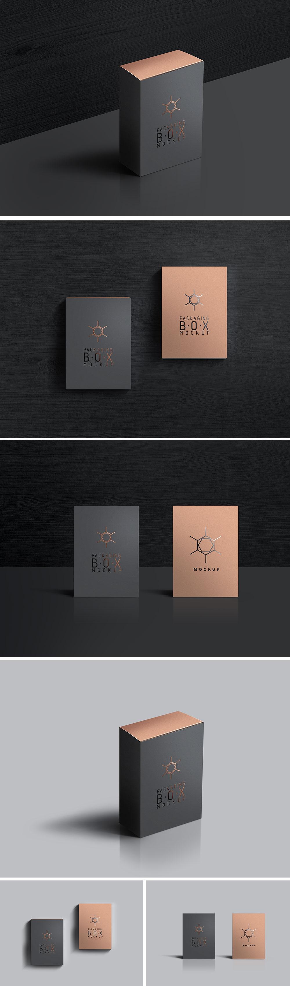 Packaging Box Mockups PSD