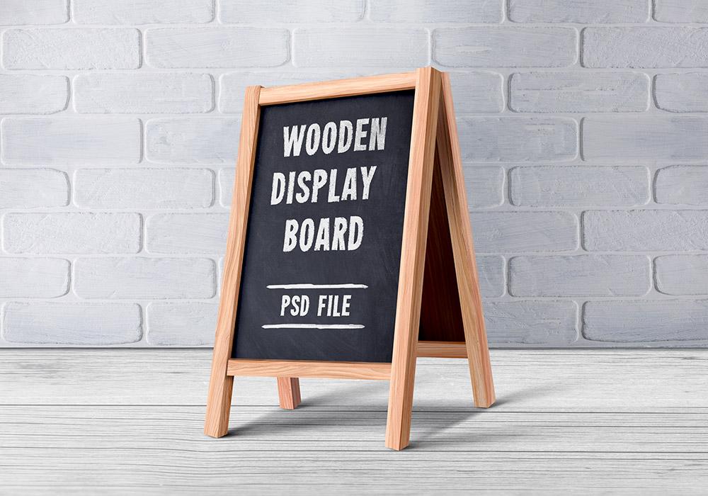 Wooden Menu Display Board Psd Graphicsfuel