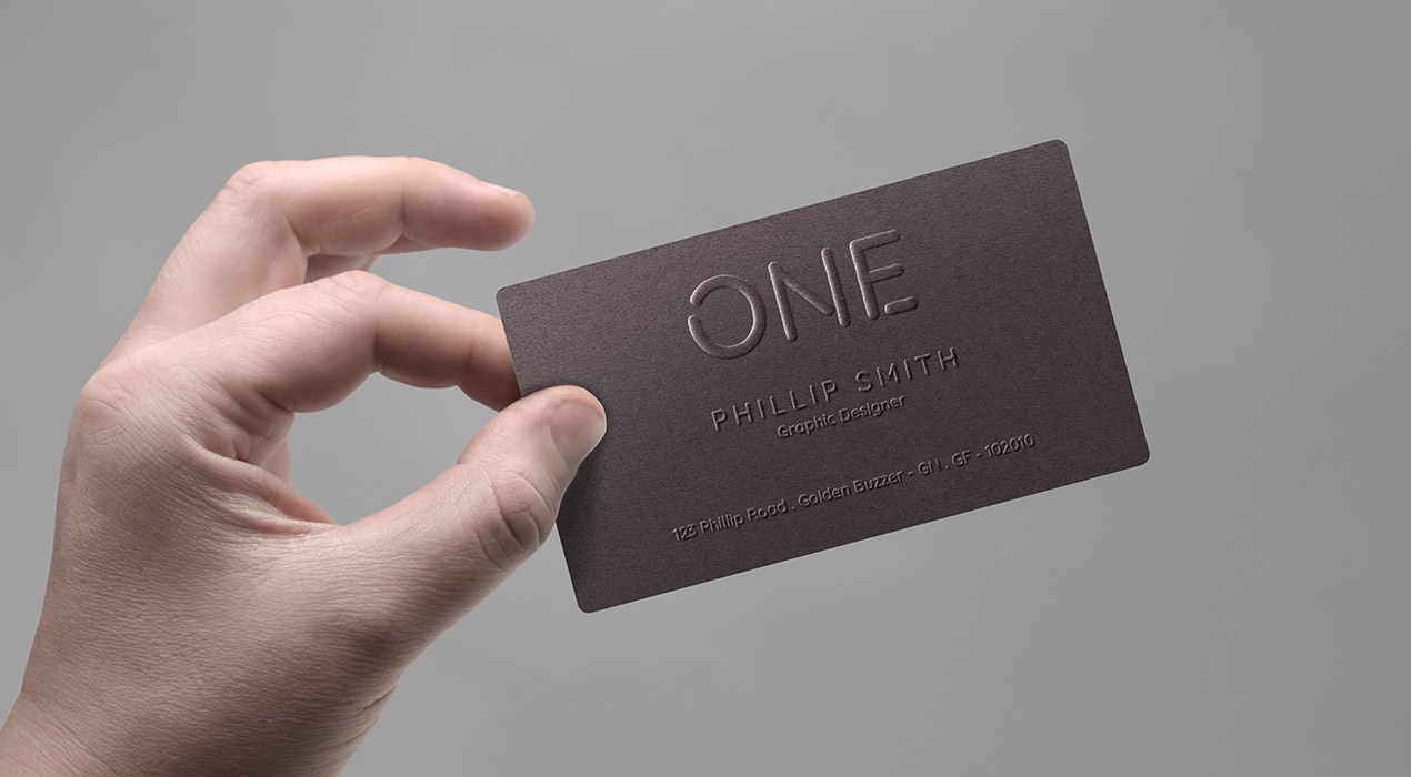 realistic business card in hand mockup  graphicsfuel