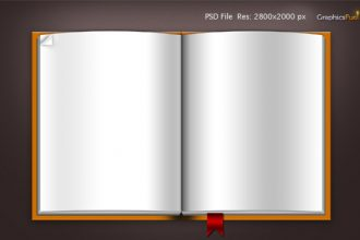 Download blank book template .PSD file & icons