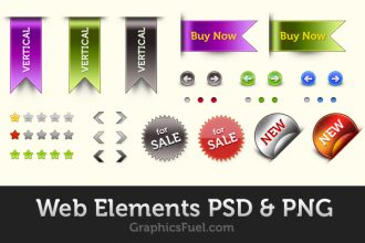 Web elements pack (PSD & PNG)