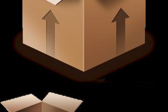 Cardboard Box PSD Icon