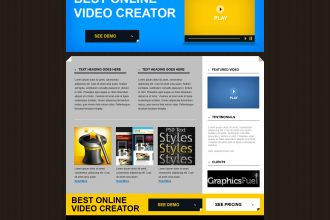 Product website PSD template