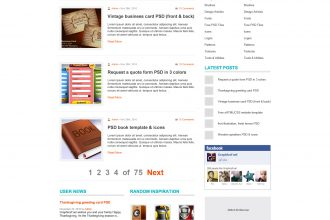 WordPress blog theme PSD template