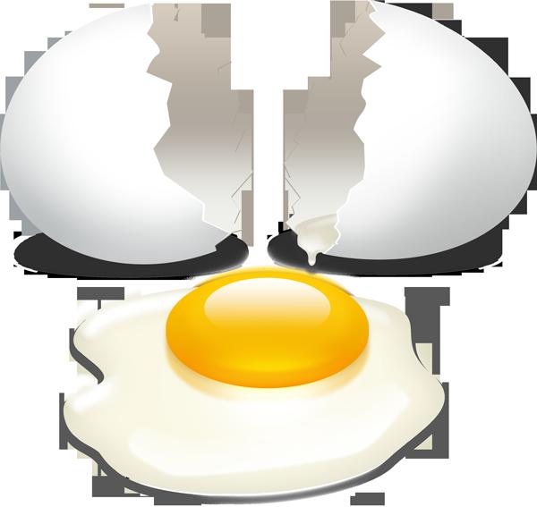 Broken egg with yolk PSD download