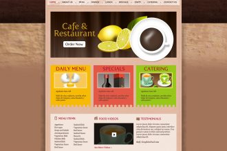 Cafe & restaurant website PSD template