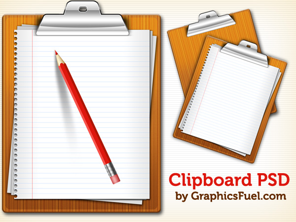Clipboard PSD & icons