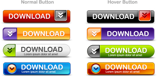 Download buttons PSD pack
