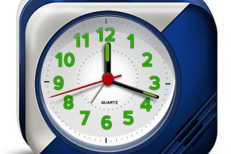 Electronic alarm clock PSD & icons