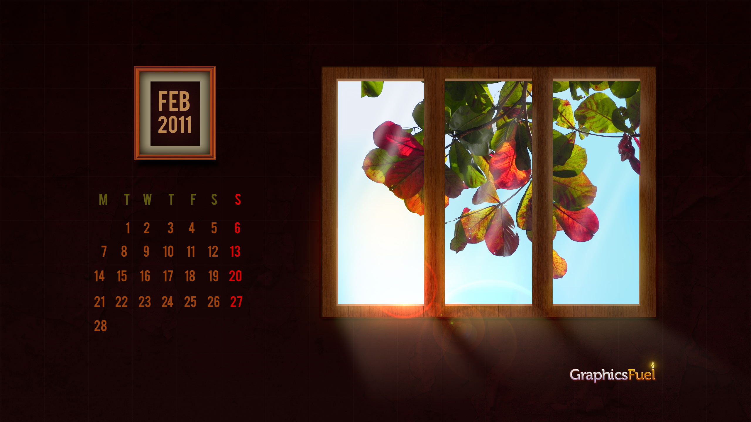 wallpaper calendar february 2011 graphicsfuel