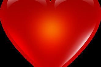 Valentine background & heart icons
