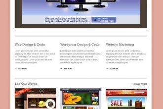Minimal business portfolio website PSD template