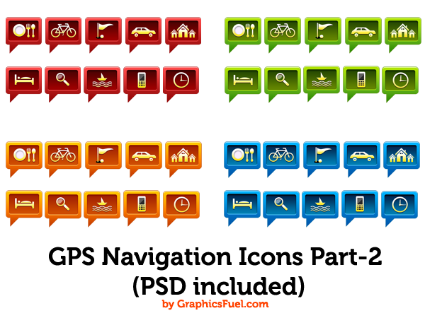 GPS navigation icons Part-2