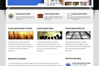 WordPress business website PSD template