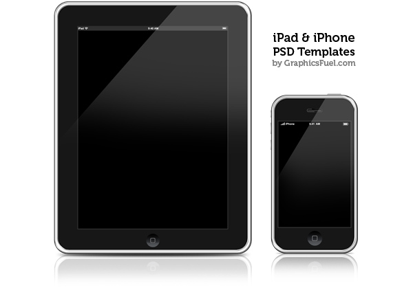iPhone & iPad PSD templates & icons