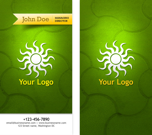 Business card psd templates front back graphicsfuel author rafi reheart Gallery