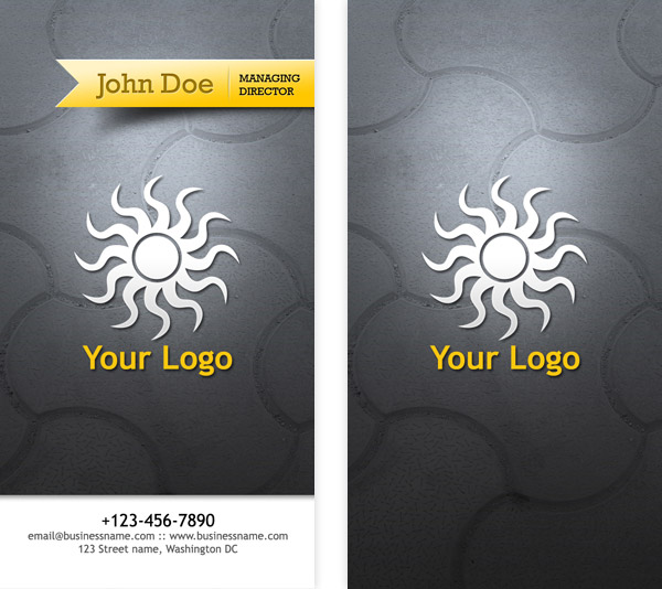 Business card psd templates front back graphicsfuel author rafi cheaphphosting Choice Image