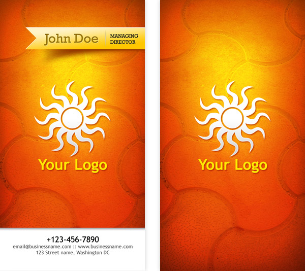 Business Card PSD Templates Front Back GraphicsFuel - Front and back business card template