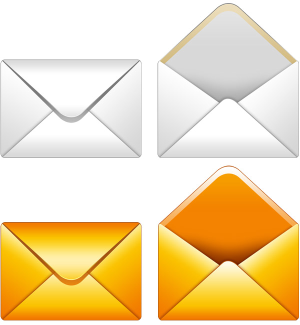 Email icon PSD - GraphicsFuel
