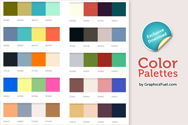 Excellent Color Palettes PSD