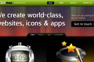 Corporate design agency website design (PSD)
