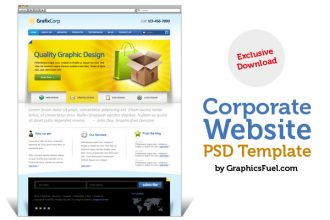Elegant website PSD template