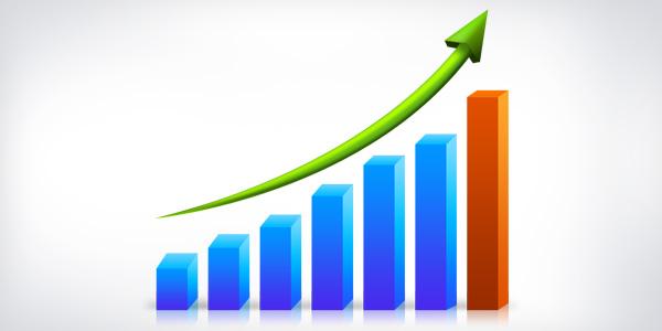 Business growth graph (PSD)