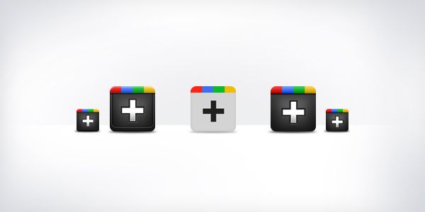 Google plus icons (PSD)