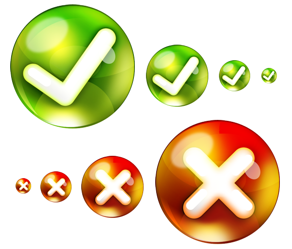 Yes, no icons (PSD) - GraphicsFuel