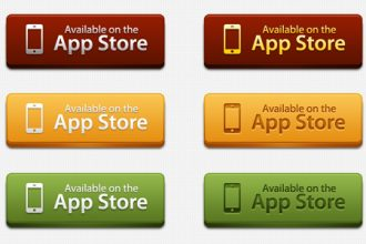 12 App Store download buttons (PSD)