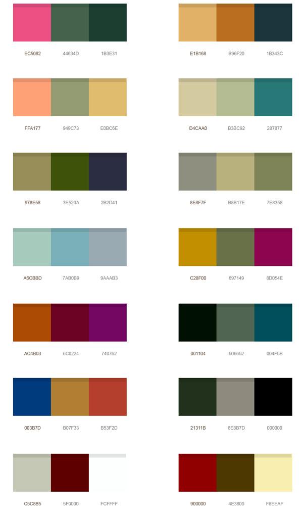 14 wonderful color palettes psd   graphicsfuel