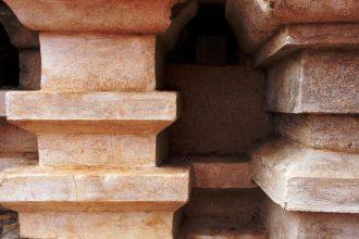 Concrete blocks wall textures