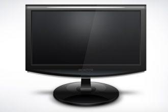 Computer monitor icon (PSD)